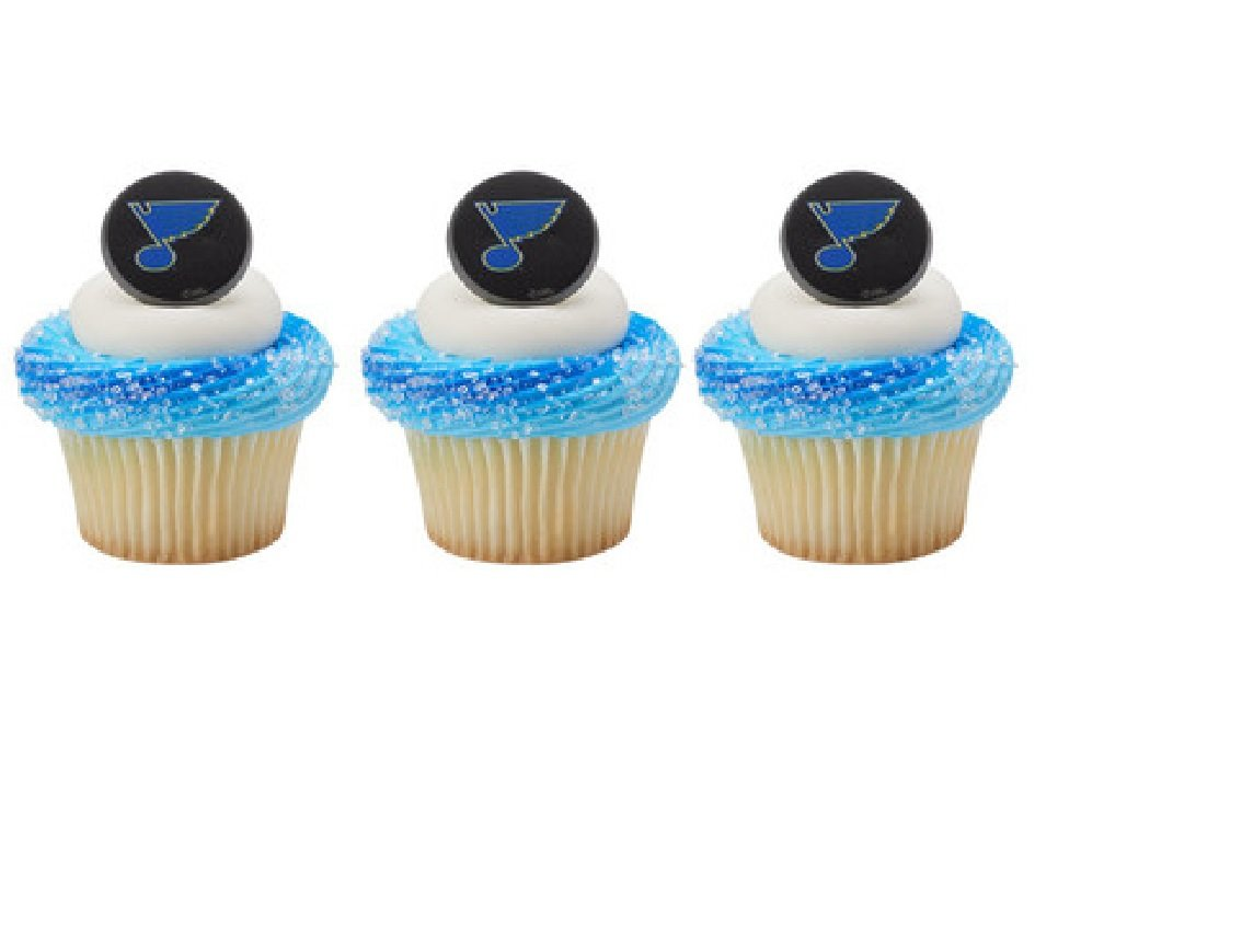 Amazon 12 Cupcake Topper Rings New St Louis Blues Hockey Nhl