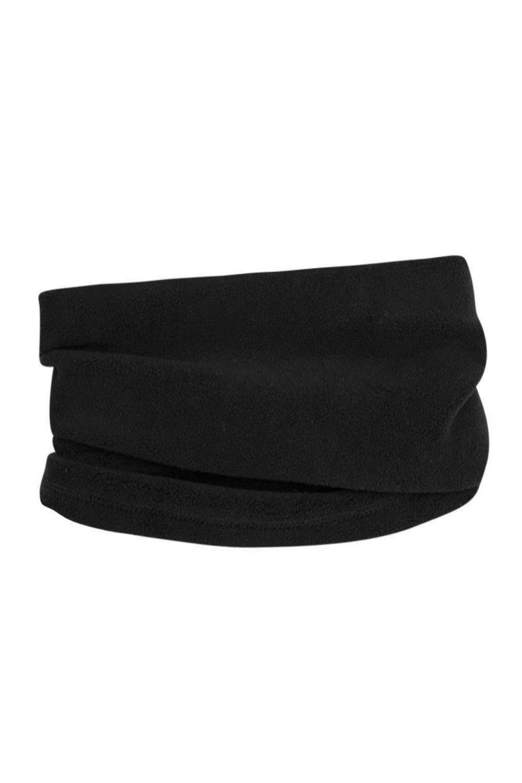 Mountain Warehouse Fleece Neck Gaiter - Warm Winter Neck Warmer Scarf Black 022925005001
