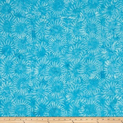 Peacock Hoffman Bali Batik - Hoffman Fabrics Bali Batiks Handpaints Sunflower Peacock Fabric by The Yard,