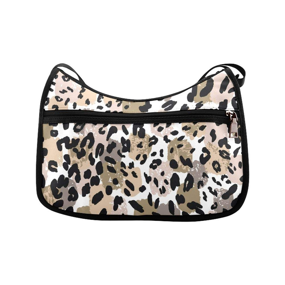 Abstract Bright Colors Leopard Animals Messenger Bag Crossbody Bag Large Durable Shoulder School Or Business Bag Oxford Fabric For Mens Womens