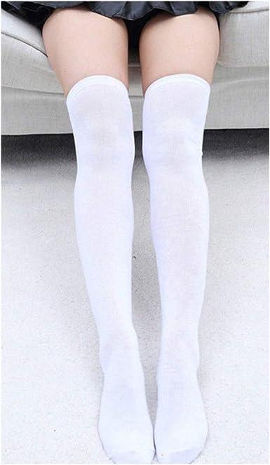 Medias de algodón para mujer, medias largas hasta la rodilla ...