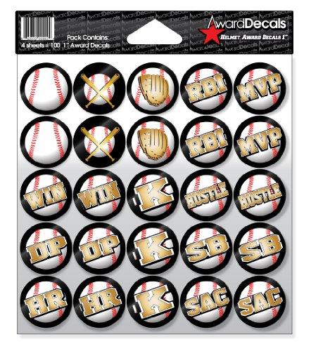 Award Decals Baseball Helmet (100 Stickers)