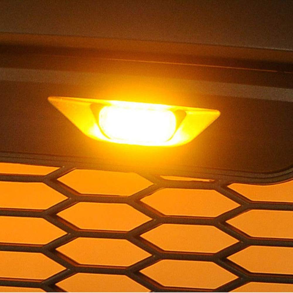 Front Bumper Hood Grille LED Light for 2004-2014 /& 2014-up Ford F150//F250 Raptor Grille Not Included MotorFansClub 3PCS Amber LED Grille Running Lamps