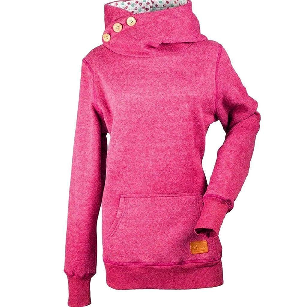 Damen Übergröße Hoodie Langarm Sweatshirts,Rovinci Frauen