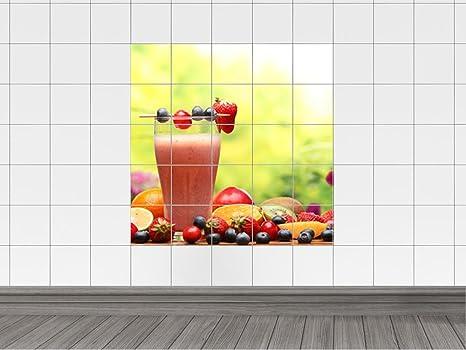 Piastrelle adesivo piastrelle immagine cocktail vetro con cocktail