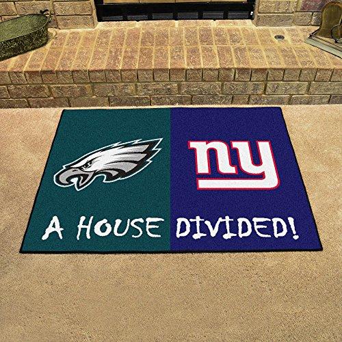 Fanmats Philadelphia Eagles-NY Giants House Divided Rugs 34