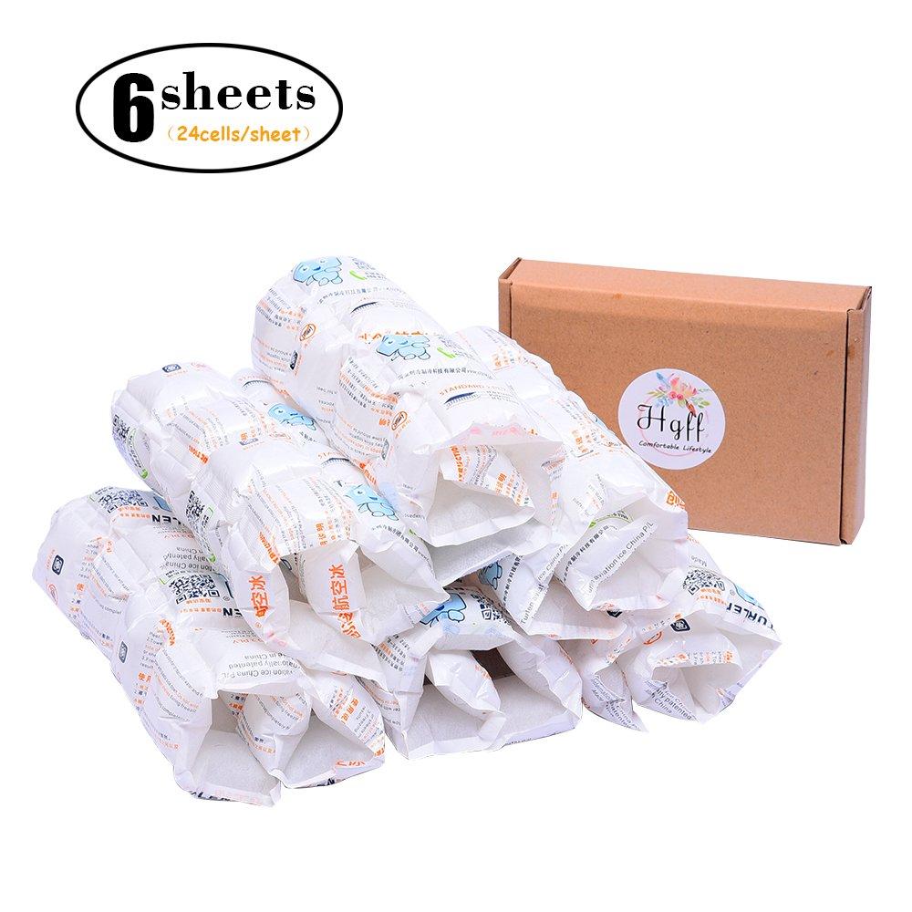 HGFF chaleur et pack de glace réutilisables Feuilles Absorber l'eau de refroidissement pour conserver aliments frais et boissons froides, non toxique, réutilisable, flexible et 6feuilles