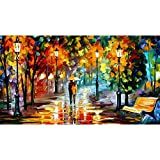 DIY 5D Diamond Painting by Number Kits, Crystal Rhinestone Diamond Embroidery Paintings Pictures Arts Craft for Home Wall Decor (Abstract Painting)
