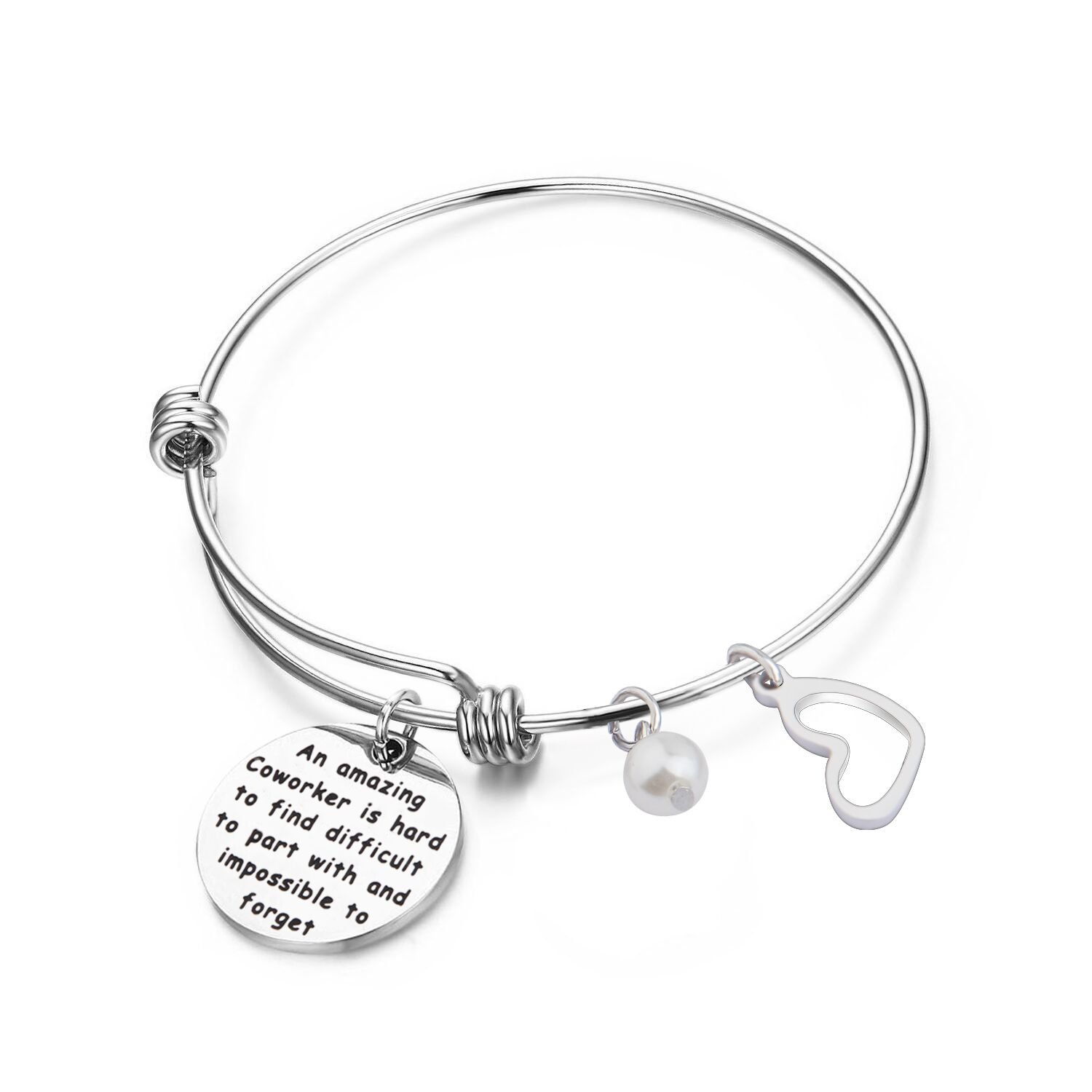 Zuo Bao Coworker Leaving Gifts an Amazing Coworker is Hard to Find Difficult to Part with and Impossible to Forget Goodbye Gifts for Best Cowork Colleague and Boss (Bracelet)