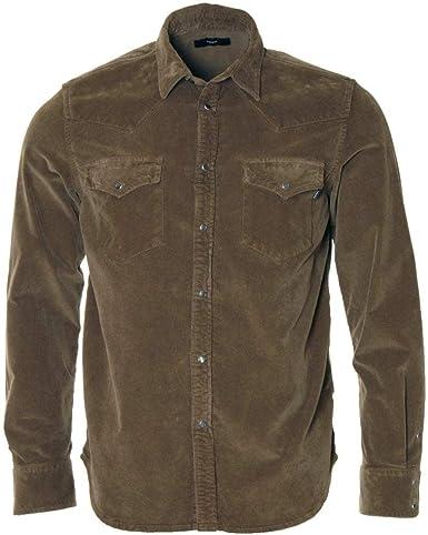 Diesel - Camisa Vaquera de Pana elástica de algodón: Amazon.es: Ropa y accesorios