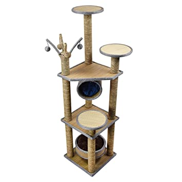 YNZYOG Torre del Juego del Gato y árbol Que Sube la Cuerda 40 * 40 * 157cm del Sisal de la Placa de la Calidad del Marco: Amazon.es: Jardín