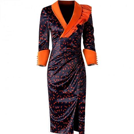 BINGQZ Mujeres Vestido Coctel Falda Vintage sobre la Rodilla ...