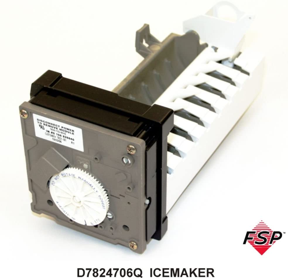 ForeverPRO D7824706Q Replacement Icemaker for Whirlpool Refrigerator D7824706Q 0056504 0056599 0056605