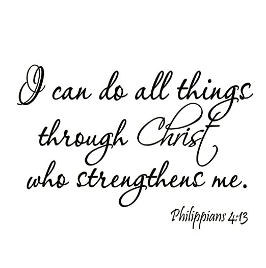 Amazon Com Vwaq I Can Do All Things Through Christ Who Strengthens