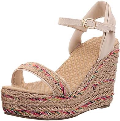 BIGTREE Wedge Platform Sandals