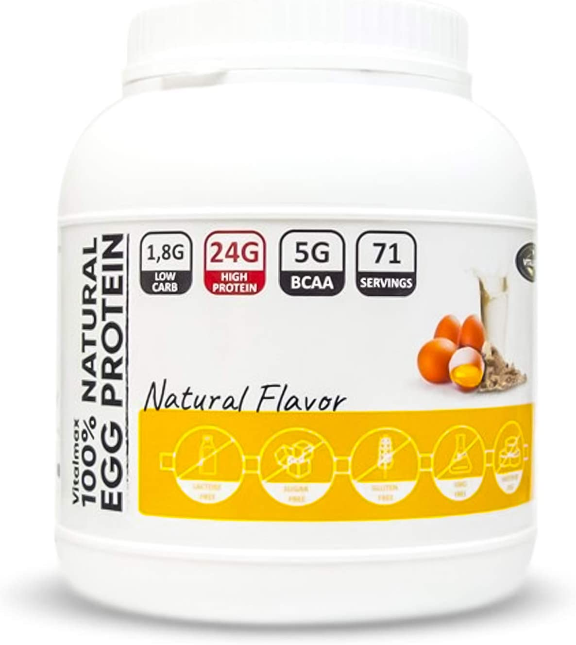 Vitalmax 100% Natural EGG Protein Paquete de 1 x 2000g ...