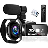 "4K Camcorder Digital Camera Video Camera WiFi Vlogging Camera Camcorders with Microphone Full HD 1080P 30FPS 3"" HD Touch…"