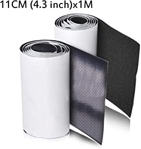 11CM (4.3 Inch) Wide 1 M Long Premium Hook and Loop Tape with Adhesive Nylon Fabric Fastener for Couch Cushions, Guitar Pedal, Cable Management and Crafts Projects