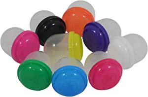 1 INCH Empty Acorn Vending Capsules - Assorted Colors - 250 Count