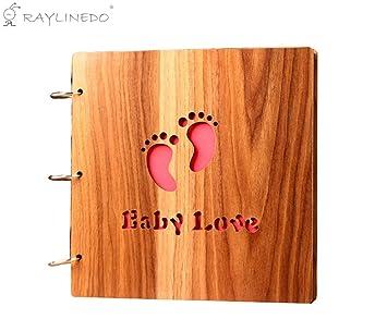 """Raylinedo® 16 """"calidad de madera cubiertos para trinchar madera personalizada DIY álbum de"""