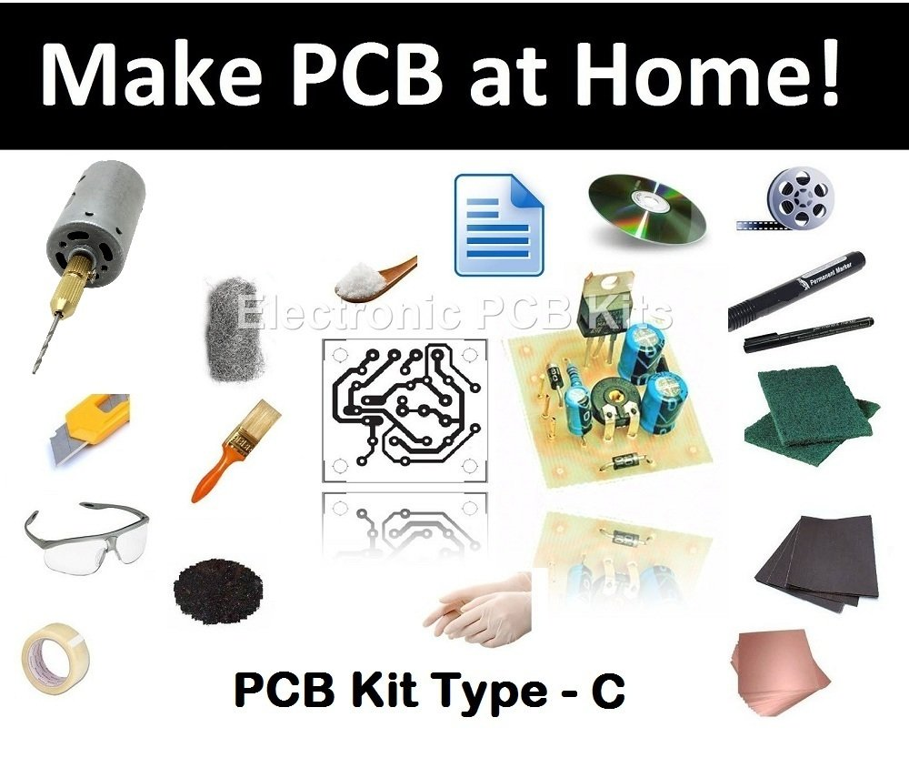 Pcb Fabrication Kit Type C Make Printed Circuit Board The Next Step In Diy After Home Electronics Epk012 Toys Games
