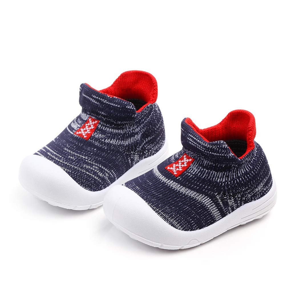 Baby Boys Girls Indoor Slippers Anti-Slip Socks Shoes Toddler Infant Kids Baby Girls Boys Solid Mesh Soft Sole Sport Shoes Sneakers Goosun Casual Prewalker Shoes Trainers Unisex