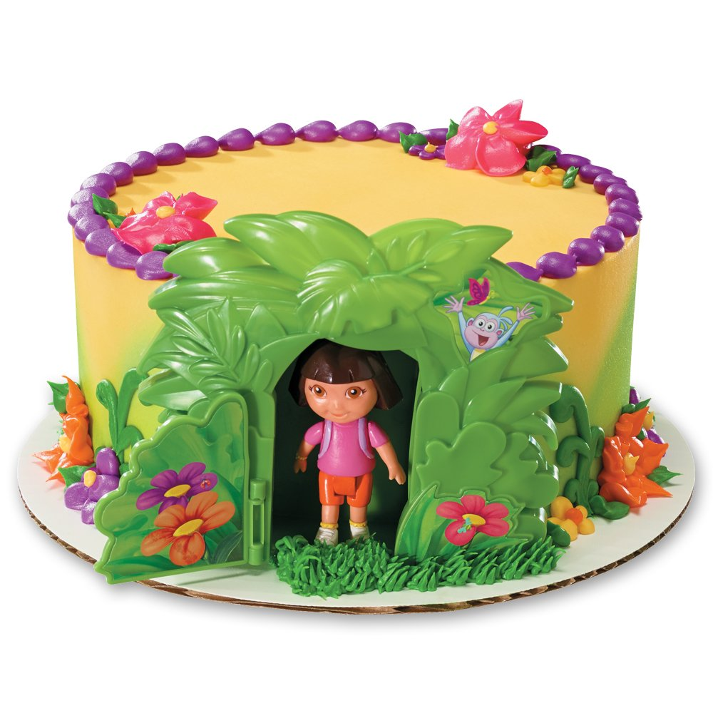 Amazoncom DecoPac Dora the Explorer Jungle DecoSet Cake Topper