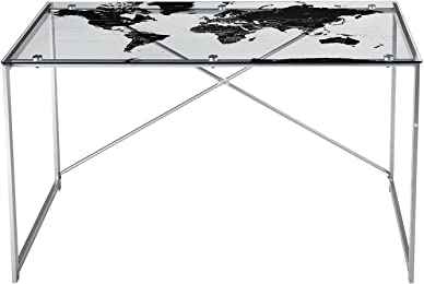 Amazon target marketing systems writing desks target marketing systems world map desk with a clear tempered glass top silver gumiabroncs Choice Image