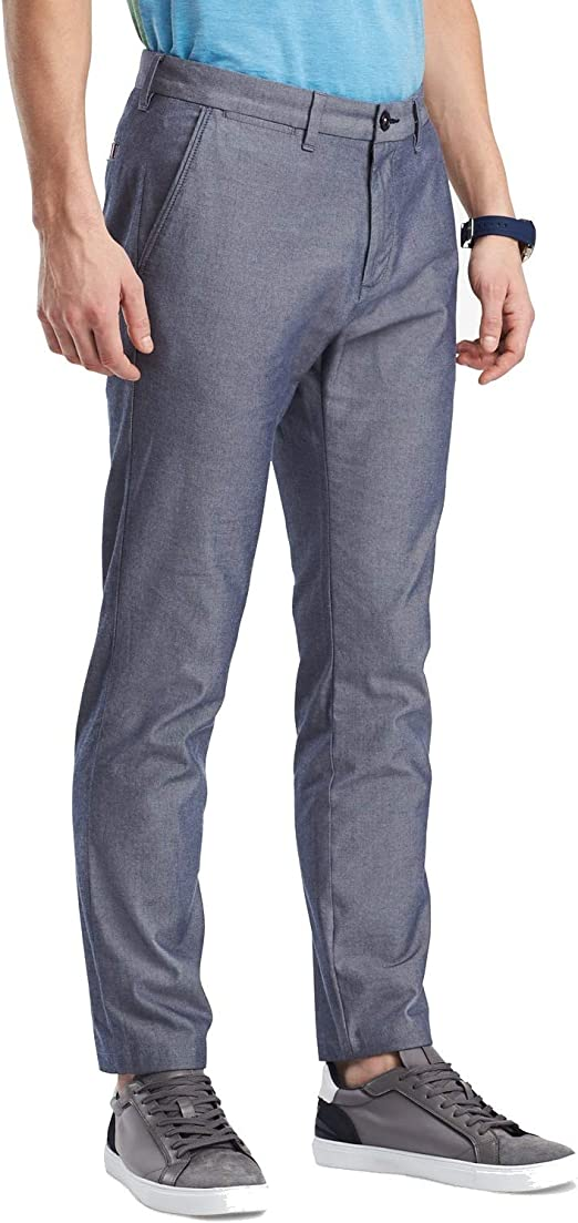 Tommy Hilfiger Mens Textured Stretch Casual Chino Pants