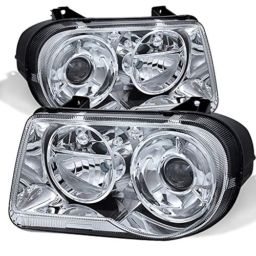 Xtune for 2005-2010 Chrysler 300C Clear Lens Projector Headlights Assembly Direct Fit LH+RH Set 2006 2007 2008 2009