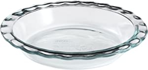 """Pyrex corelle 1085800 """"Pyrex Easy Grab"""" Glass Pie Plate - 9.5"""" (Pack of 2)"""