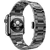 Apple Watchバンド、Pugo Top 42mmステンレススチールメタル交換クラシックバンドfor Apple Watchシリーズ2シリーズ1
