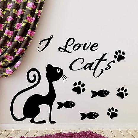 42x56 cm Me encantan las citas de los gatos con una linda ...