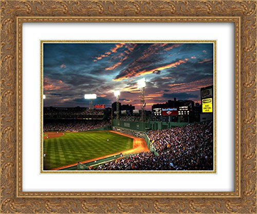 Fenway Park 2x Matted 24x20 Gold Ornate Framed Art Print from the Stadium Series