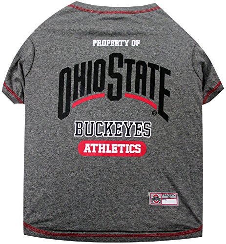NCAA OHIO STATE BUCKEYES Dog T-Shirt, Medium