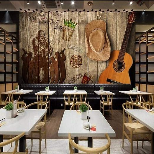 Fushoulu Photo Wallpaper Vintage Retro Rock Music Bar Ktv
