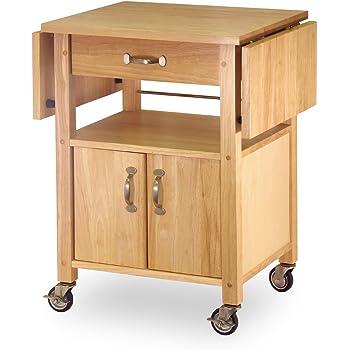winsome wood drop leaf kitchen cart bar serving carts. Black Bedroom Furniture Sets. Home Design Ideas