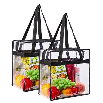 Amazon.com: Eland - Bolsa transparente con cierre de ...