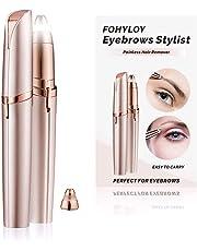 FOHYLOY Epilateur de sourcil pour femme, épilation électrique des sourcils, Tondeuse sans douleur, 1 lame de rechange pour rasoir, Comme Voir à la télé