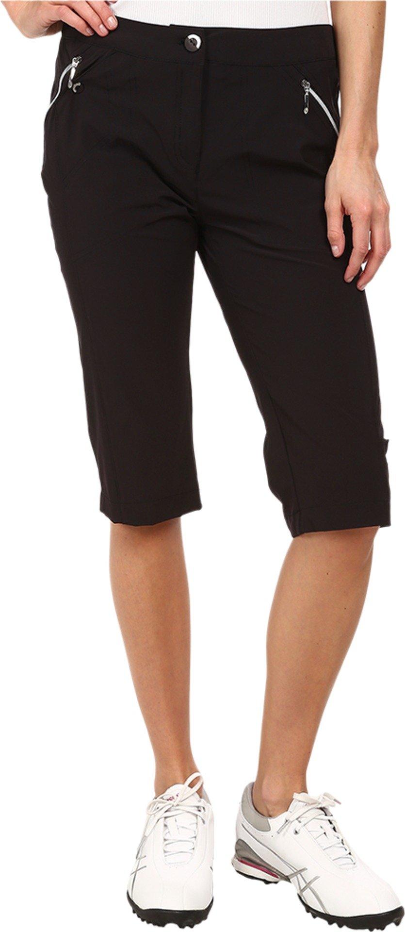 Jamie Sadock Women's Airwear Light Weight 24 in. Knee Capri Jet Black Pants 6 X 15