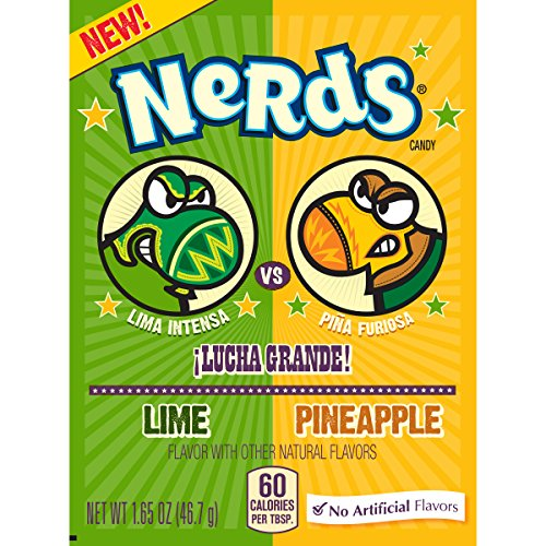 Nerds Dulceria Lime and Pineapple Candy 1.65 Ounce Box, 24 Count