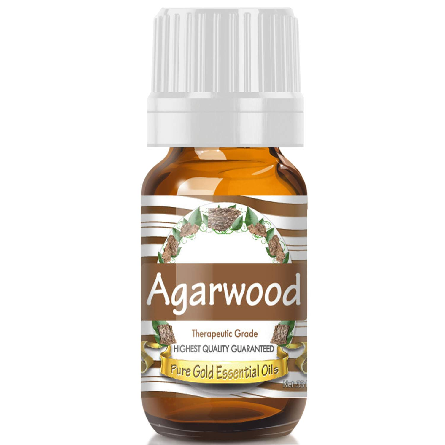 Pure Gold Agarwood Essential Oil, 100% Natural & Undiluted, 10ml by Pure Gold