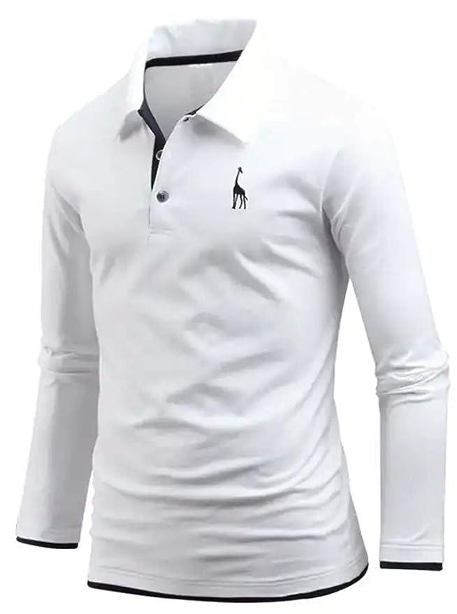 EnvyLook Playera Polo de algodón con Capas de Jirafa para Hombre ...