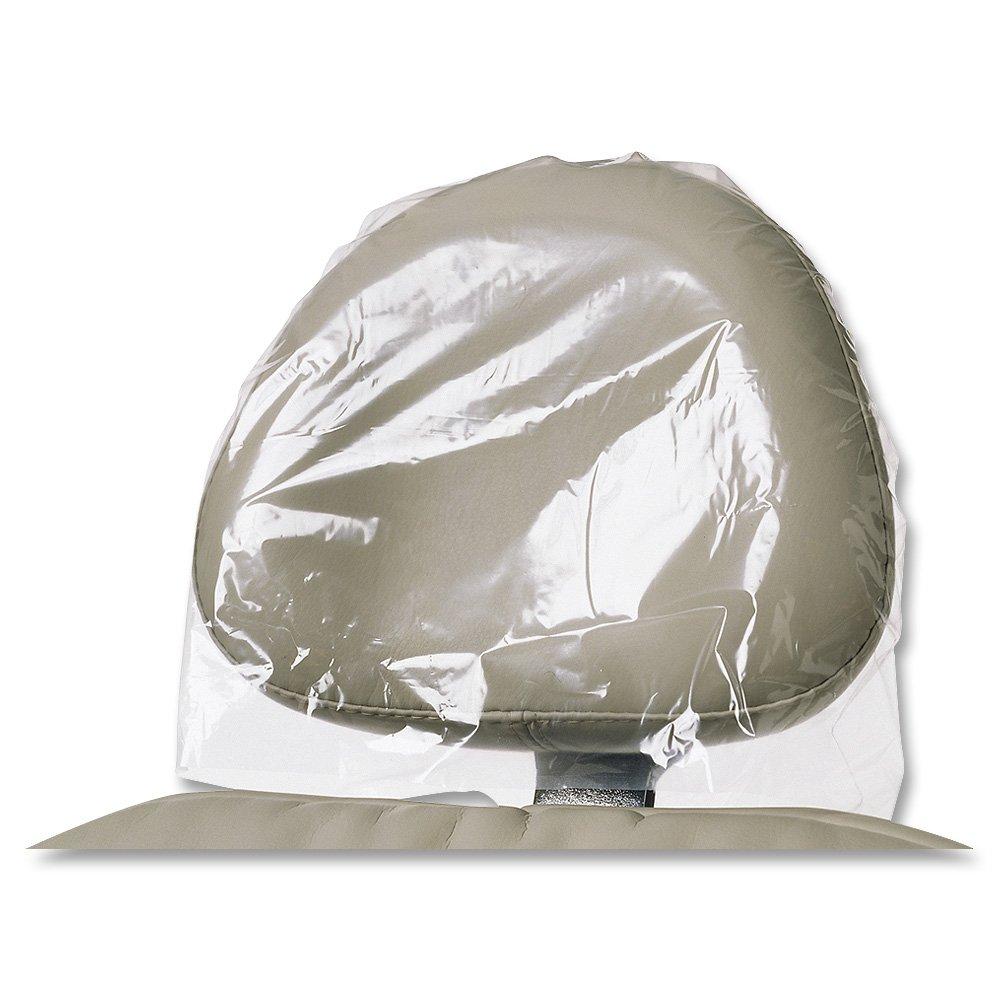Headrest Covers - Clear Plastic - Jumbo, 14'' x 9 1/2'' (250) - 14'' opening