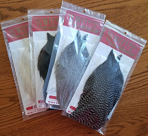 Hackle Capes - Whiting Hen Capes - Black