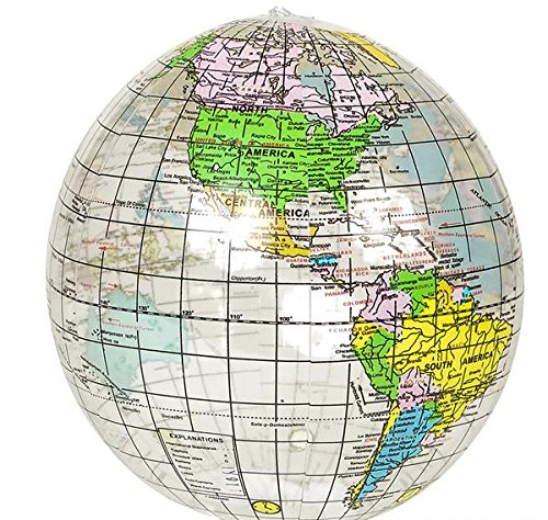 12'' CLEAR GLOBE INFLATE, Case of 216 by DollarItemDirect
