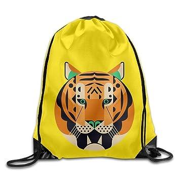 Meius Tiger Big Face - Mochila de Lona para niños (cordón de Ajuste): Amazon.es: Deportes y aire libre