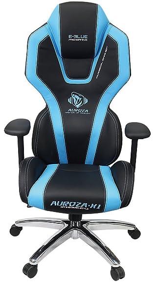 E Blue USA Auroza Gaming Chair, High Grade PU Leather, PC Racing Bucket