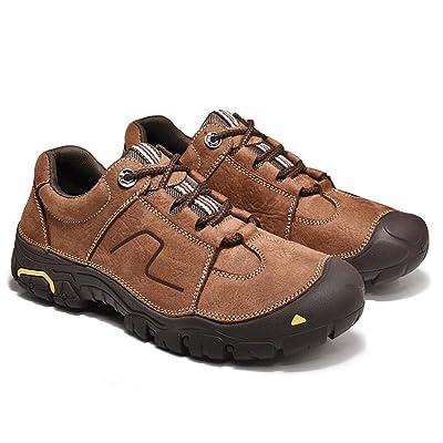 Hommes Chaussures En Cuir Four Seasons Confort Athlétique Chaussures Randonnée Chaussures À Lacets Pour Athlétique Décontractée En Plein Air Hommes Chaussures (Couleur : Marron, Taill