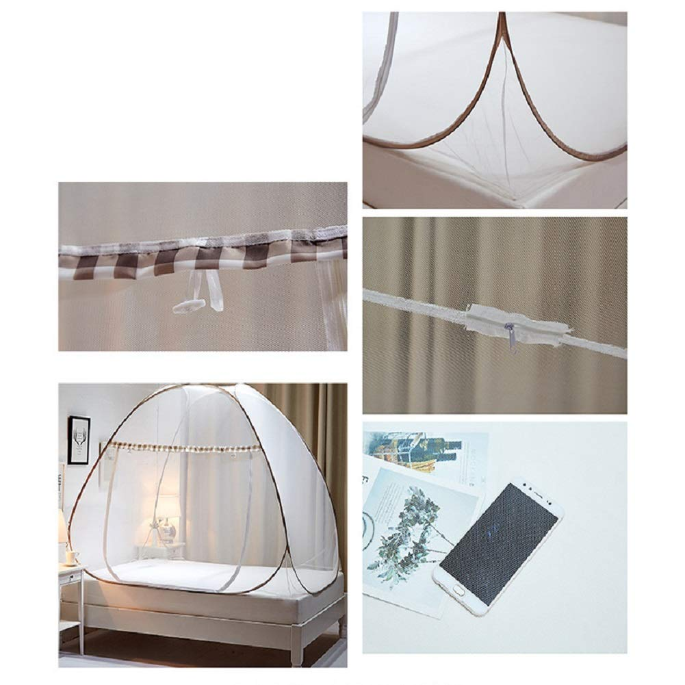 KE & LE Mosquito Tent, Outdoor Mongolian Yurt Dome Folding Mosquito Net Prevent Insect Pop Up Tent Mesh Canopy Curtains with Bottom Curtains for Beds Bedroom-a W:100cmxh:100cmxd:190cm by KE & LE (Image #2)